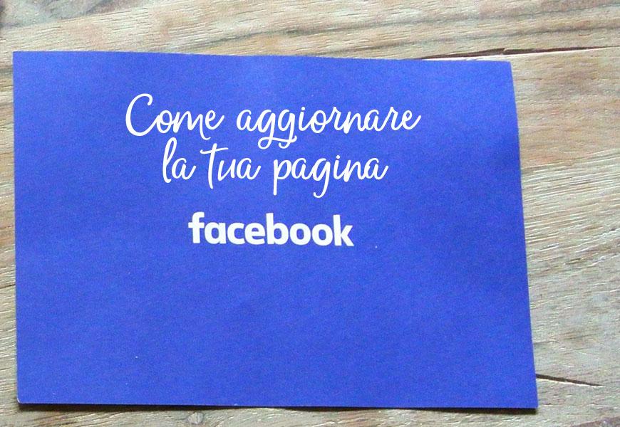 aggiornare pagina facebook per centro estetico